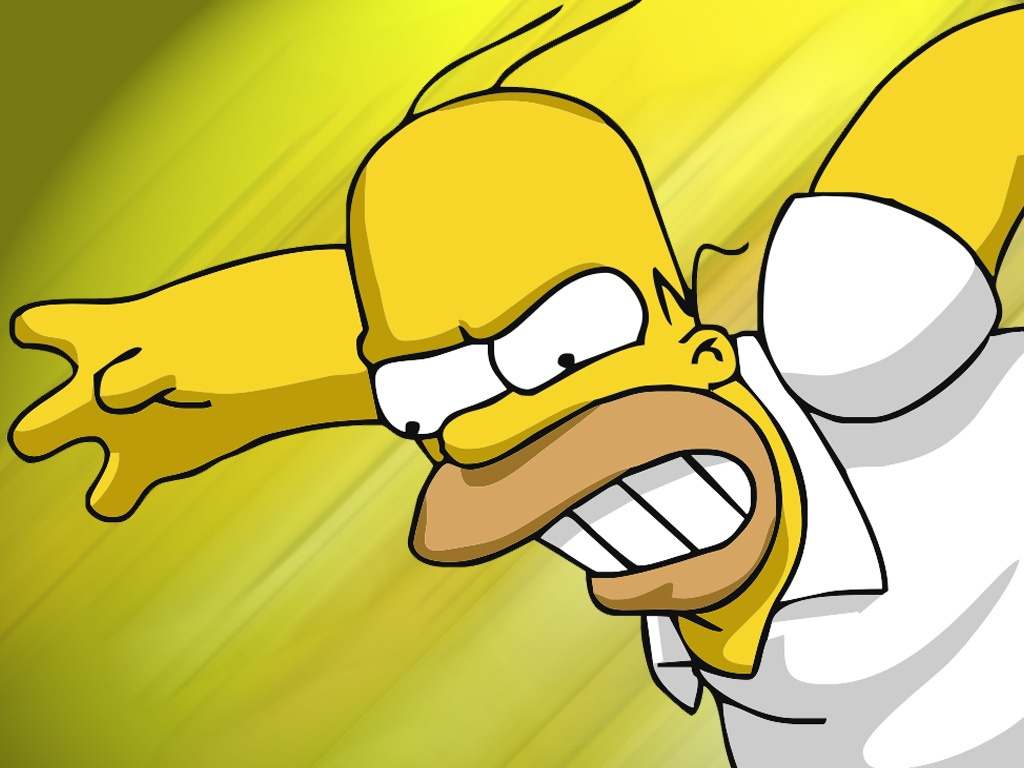 Homero Simpson en movimiento